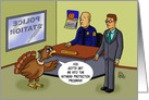 Thanksgiving Card With Cartoon Turkey Asking To Be Put into WPP card
