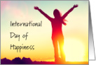 International Day of Happiness With a Sunrise card