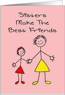 Sister's Day Card - Sisters Make The Best Friends card
