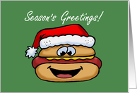 Business Christmas Card For Sausage Industry With Hot Dog card