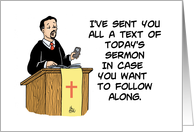 Humorous Congratulations On Delivering Your First Sermon Card