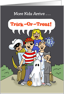 Halloween Card With Trick Or Treaters card