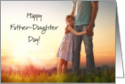 Happy Father-Daughter Day With Girl Hugging Dad card