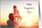 Daughter's Day Card With Father Holding Daughter card
