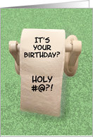Birthday Card With Toilet Paper Roll Holy ... card
