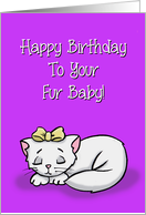 Birthday Card For Cat Happy Birthday To Your Fur Baby card