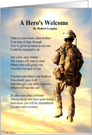 Sentimental Sympathy for the Loss of a Soldier Poem card