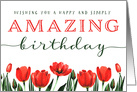 Birthday, Wishing You a Happy and Simply AMAZING Birthday card