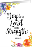 Feel Better, Religious, The Joy of the Lord is your Strength card