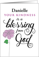Custom front, Thanks, Your Kindness is a Blessing from God card