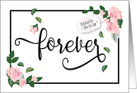 Anniversary, Daughter and Son in Law - Forever Looks Beautiful on You card