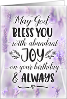 Birthday, Religious - May God Bless you with Joy On your Birthday card