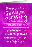 Thinking of you, Religious, You're such a Wonderful Blessing card