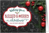 Wishing you a Blessed & Merry Christmas full of peace and joy! card