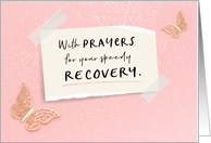 Get Well Soon, Religious, With Prayers for your Speedy Recovery card
