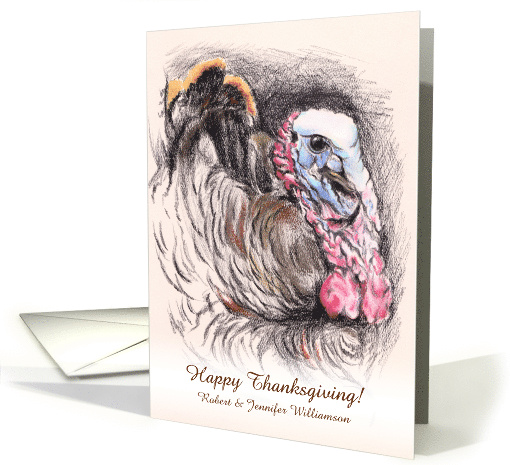 Personalized Thanksgiving Autumn Turkey Artwork card (1489178)
