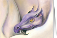 All Occasion Blank Purple Dragon Pastel Art card