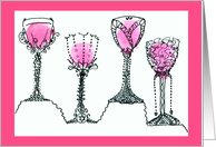 Four Cups of Wine for Passover / Pesach Seder card