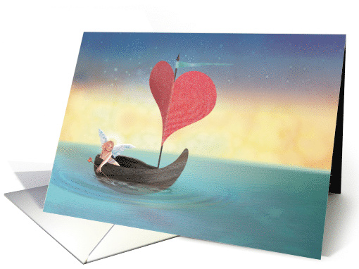 Cupid's Valentine Boat card (1506700)