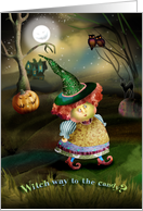 Witch Way to the Candy Halloween card