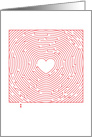 Valentine You are Amazing Heart Maze card
