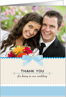 Thank You for being in Our Wedding Custom Photo card