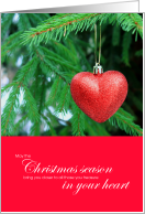 You Are In Our Hearts This Christmas card