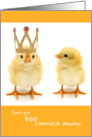 Funny Birthday Chicks Don't Get Too Carried Away card