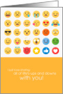 Happy Anniversary Life's Ups and Downs Emojis card