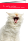 Funny Valentine Cat Pretty Excited About the Upcoming Holiday card