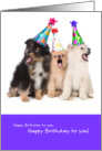 Funny Our Singing is a Little Ruff Happy Birthday from Group card