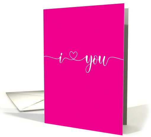 I Love You Continuous Script with Heart Valentine card (1625538)