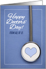 Happy Doctors' Day From All of Us Stethoscope on Scrubs Photograph card