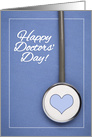 Happy Doctors' Day Stethoscope on Scrubs Photograph card