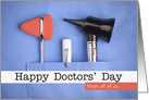 Happy Doctors' Day From Group Medical Devices in Scrub Pocket card