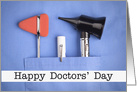 Happy Doctors' Day Medical Devices in Scrub Pocket card