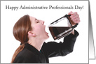 Happy Administrative Professionals Day Woman Drinking Coffee Pot Humor card