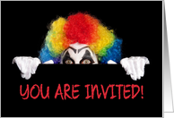 Creepy Clown Halloween Party Invitation card