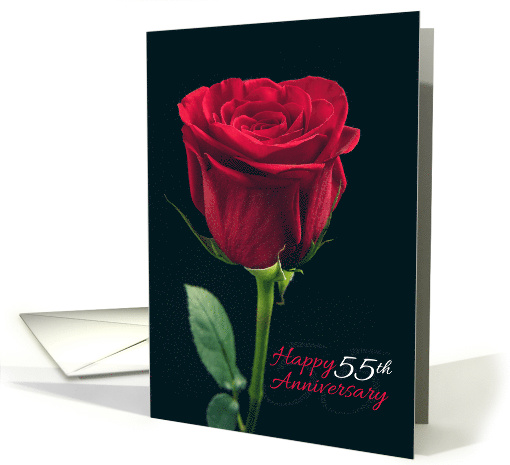 Happy 55th Anniversary Red Rose card (1533680)