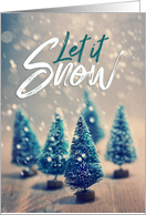 Merry Christmas Let it Snow card