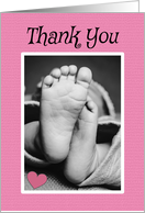 Thank You for the Baby Gift Pink For Girl card