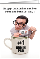 Happy Administrative Professionals Day Cup of Joe Humor card
