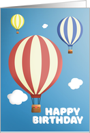 Happy Birthday For Anyone Hot Air Balloons card