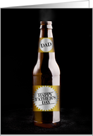 Happy Father's Day Beer Humor card