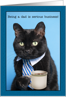 Happy Father's Day Business Cat Humor card