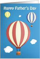 Happy Father's Day Hot Air Balloons card