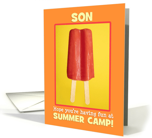 Summer Camp Son Letters From Home Ice Pop card (1572092)