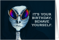 Happy Birthday Alien Humor card