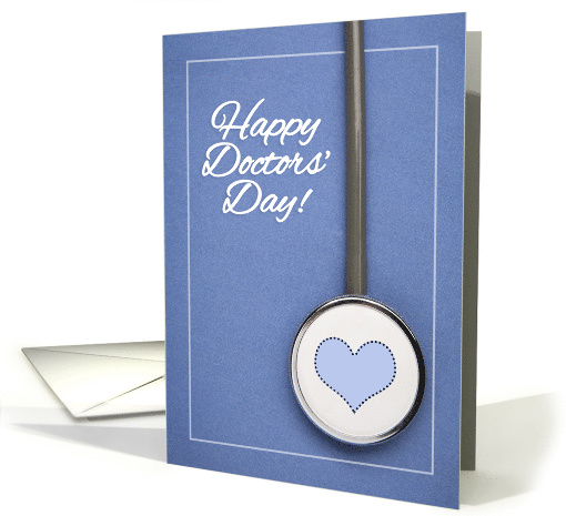 Happy Doctors' Day Stethoscope on Scrubs Photograph card (1600242)
