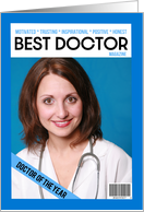 Happy Doctor's Day Custom Photo Magazine Cover card